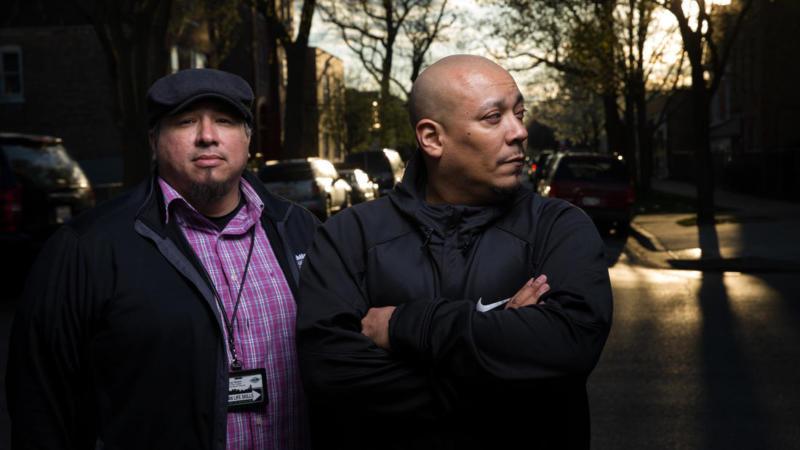 Benny and Jorge - Chicago Tribune Photo - Little Village Mentors